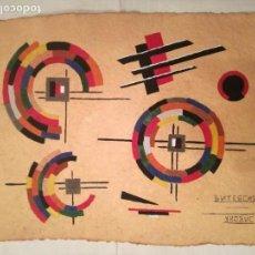 Arte: GOUACHE ESCUELA SUPREMATISTA RUSA SIGLO XX. Lote 153943988