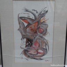 Arte: ACUARELA FIRMA ILEGIBLE.ABSTRACTO.. Lote 154435826