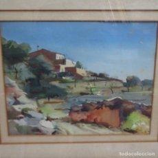 Arte: ACUARELA FRANCESC MESTRE FERRAN.1952. Lote 154436530