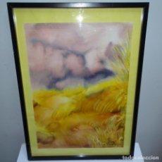 Arte: ACUARELA CON FIRMA ILEGIBLE.. Lote 154445914