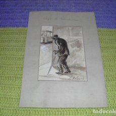 Arte: ACUARELA - CIEGOS DE BARCELONA -. Lote 154516306