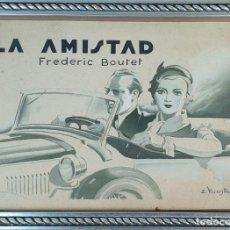 Arte: LA AMISTAD. FREDERIC BOUTET. TECNICA MIXTA SOBRE PAPEL. E. VICENTE. SIGLO XX. . Lote 154637318