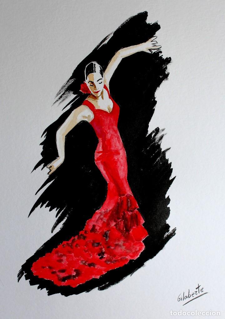 Arte: Bailaora obra de Gilaberte - Foto 2 - 154710994