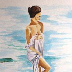 Arte: EN LA PLAYA OBRA DE GILABERTE . Lote 154711546