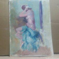 Arte: OBRA A DESVISTIENDOSE/B DIBUJO BOCETO DESVISTIENDOSE. Lote 154852554