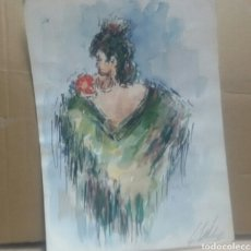 Arte: MUJER SEVILLANA /B BOCETOS VARIEDAD. Lote 154855898