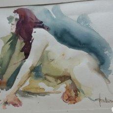 Arte: ACUARELA DESNUDO EROTICO (ORIGINAL ) FAFRA 94. Lote 155185826