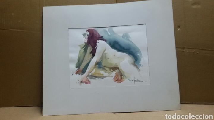 Arte: Acuarela desnudo erotico (original ) Fafra 94 - Foto 3 - 155185826