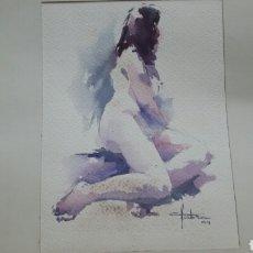 Arte: CUARELA DESNUDO EROTICO (ORIGINAL ) FAFRA 94. Lote 155185850