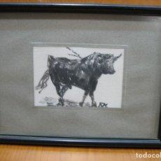 Arte: ACUARELA DE FRANCISCO JURADO MIALDEA. TORO. Lote 155314286
