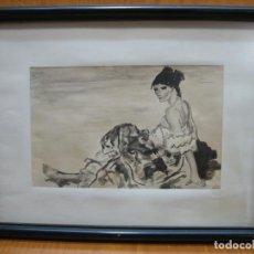 Arte: ACUARELA DE FRANCISCO JURADO MIALDEA. MUJER. Lote 155314362