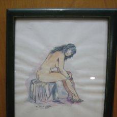Arte: ACUARELA DE FRANCISCO JURADO MIALDEA. MUJER. Lote 155314434
