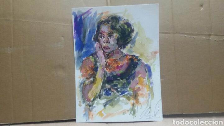 Arte: Retrato chica años 60 original - Foto 3 - 155330334