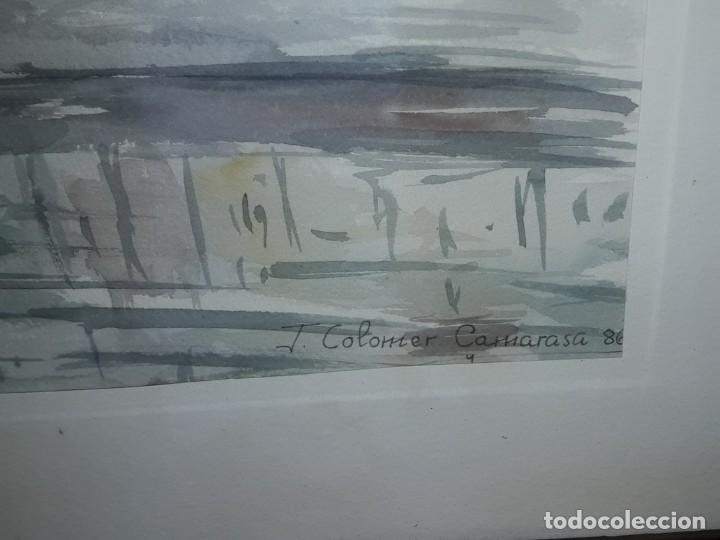 Arte: Precioso cuadro acuarela Vista Girona Joan Colomer Camarasa Año 1986 - Foto 7 - 155525650