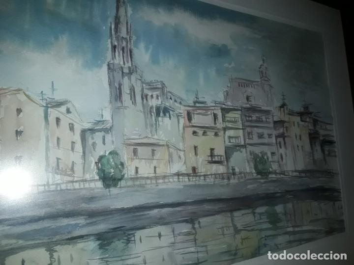 Arte: Precioso cuadro acuarela Vista Girona Joan Colomer Camarasa Año 1986 - Foto 9 - 155525650