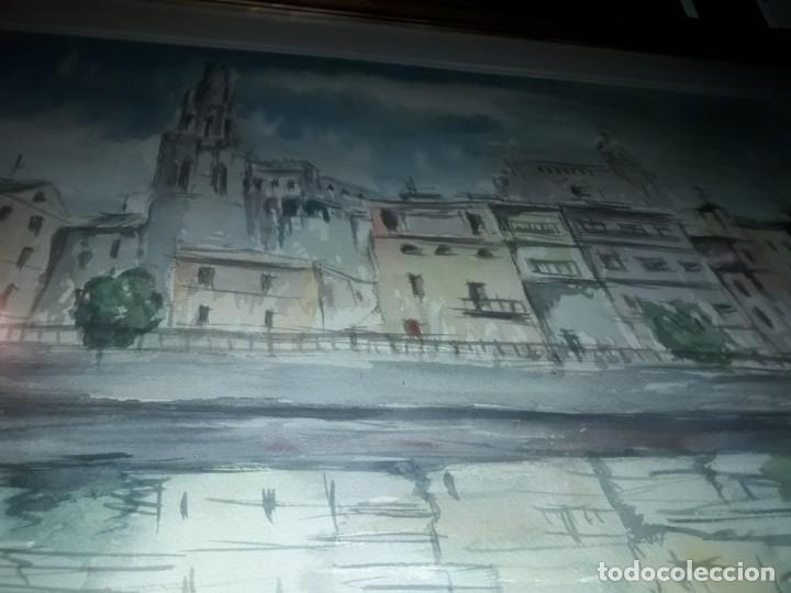 Arte: Precioso cuadro acuarela Vista Girona Joan Colomer Camarasa Año 1986 - Foto 11 - 155525650