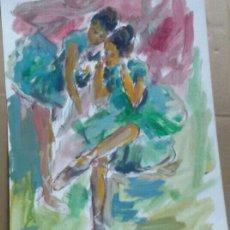 Arte: A LAS BAILARINAS /TAURINO ORIGINAL. Lote 155544170