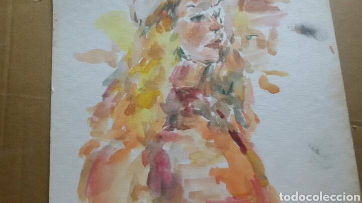 Arte: Acuarela Retrato chica turista original - Foto 2 - 155698082