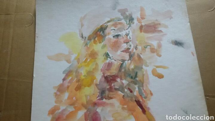 Arte: Acuarela Retrato chica turista original - Foto 3 - 155698082