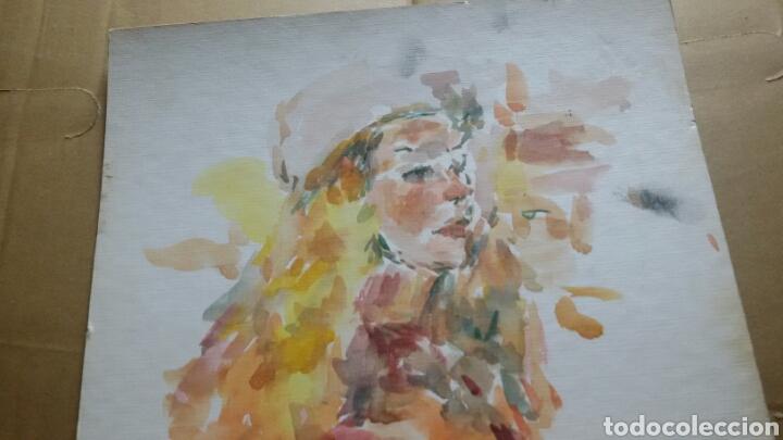 Arte: Acuarela Retrato chica turista original - Foto 4 - 155698082