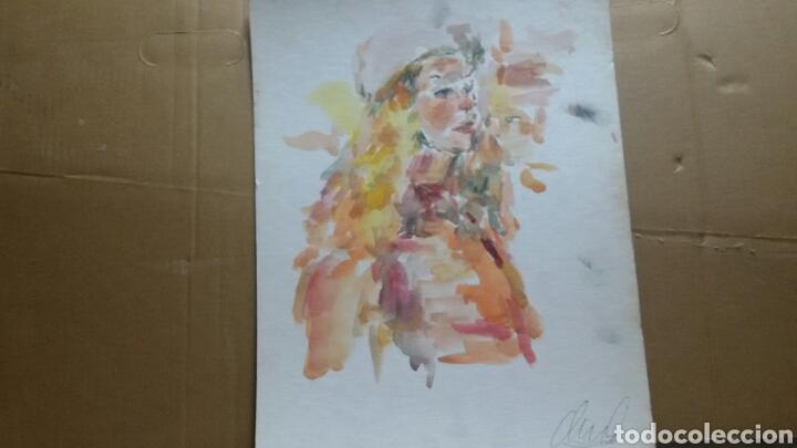Arte: Acuarela Retrato chica turista original - Foto 5 - 155698082
