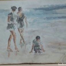 Arte: UN DIA DE PASEO ORIGINAL OBRA. Lote 155699610