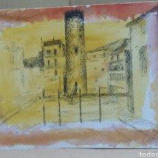 Arte: LA PLAZA DEL PUEBLO. Lote 155700606
