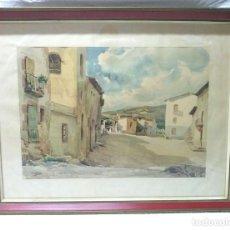 Arte: ACUARELA PAISAJE RURAL AÑO 1958. VILA CAÑELLAS JOSÉ MARÍA VIC, BARCELONA, 1913-01. Lote 155701498