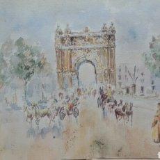 Arte: A BOULEVARD ARCO DE TRIUNFO / B RETRATO MUJER. Lote 155716558