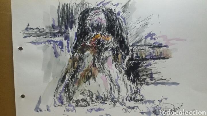 ACUARELA EL GITANO DEL BARRIO ORIGINAL (Arte - Acuarelas - Contemporáneas siglo XX)