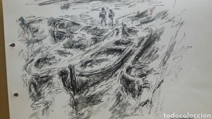 ACUARELA EL PUERTO ORIGINAL (Arte - Acuarelas - Contemporáneas siglo XX)