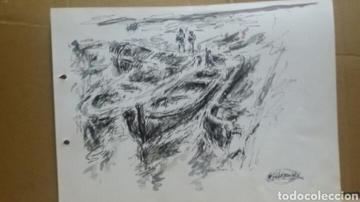 Arte: Acuarela El puerto original - Foto 2 - 155744086