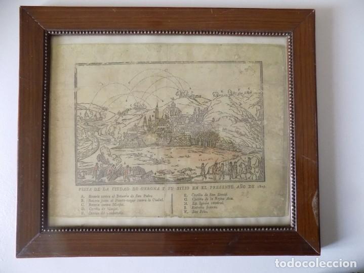 LIBRERIA GHOTICA. RARÍSIMO GRABADO DE LOS SITIOS DE GERONA POR LOS FRANCESES. 1809. ORIGINAL.MILITAR (Arte - Acuarelas - Antiguas hasta el siglo XVIII)