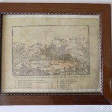 Arte: LIBRERIA GHOTICA. RARÍSIMO GRABADO DE LOS SITIOS DE GERONA POR LOS FRANCESES. 1809. ORIGINAL.MILITAR. Lote 155754294