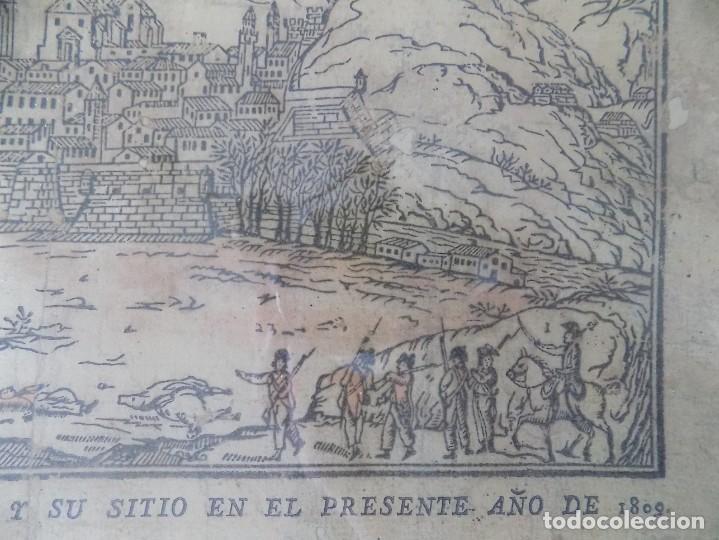 Arte: LIBRERIA GHOTICA. RARÍSIMO GRABADO DE LOS SITIOS DE GERONA POR LOS FRANCESES. 1809. ORIGINAL.MILITAR - Foto 3 - 155754294