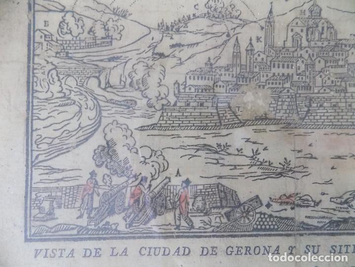 Arte: LIBRERIA GHOTICA. RARÍSIMO GRABADO DE LOS SITIOS DE GERONA POR LOS FRANCESES. 1809. ORIGINAL.MILITAR - Foto 5 - 155754294