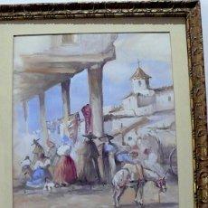 Arte: ROBERTO DOMINGO, MERCADO AVILA. Lote 155807198