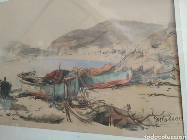 Arte: BARCELONA. EMILIO BOSCH ROGER. BARCELONA 1894-1980. BARCAS EN EL PUERTO - Foto 2 - 140723874