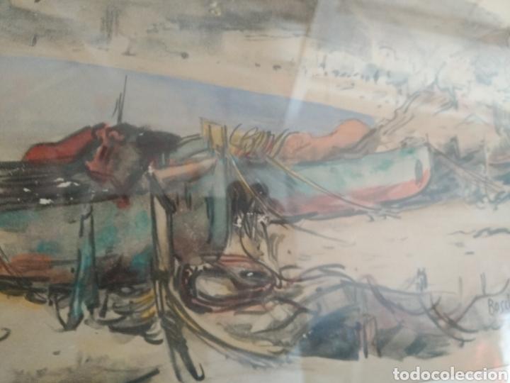 Arte: BARCELONA. EMILIO BOSCH ROGER. BARCELONA 1894-1980. BARCAS EN EL PUERTO - Foto 6 - 140723874