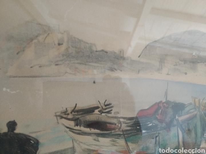 Arte: BARCELONA. EMILIO BOSCH ROGER. BARCELONA 1894-1980. BARCAS EN EL PUERTO - Foto 8 - 140723874