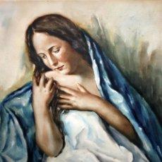 Arte: RAFAEL ESTRANY I ROS (MATARÓ, 1884 - BARCELONA, 1958) ACUARELA SOBRE PAPEL. MAGDALENA. Lote 155829086