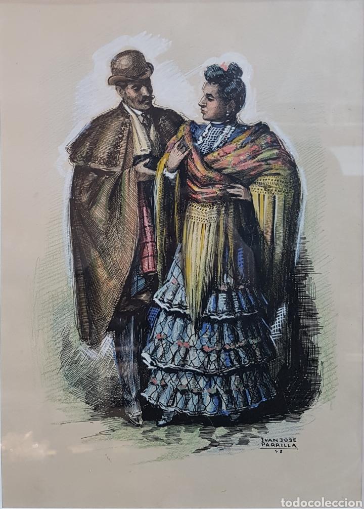 JUAN JOSE PARRILLA 1948 (Arte - Acuarelas - Contemporáneas siglo XX)
