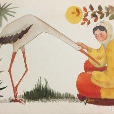 Arte: MIREIA CATALÁ, OBRA ORIGINAL,30X25 CMS. Lote 156103174