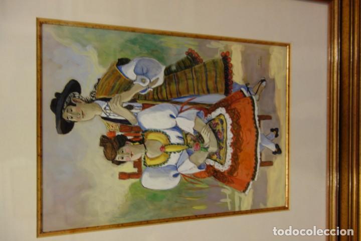Arte: CUADRO WACHE PINTOR MURCIANO PINA NORTES - Foto 2 - 156547662