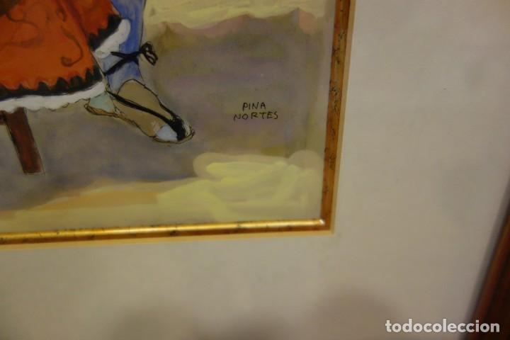Arte: CUADRO WACHE PINTOR MURCIANO PINA NORTES - Foto 3 - 156547662