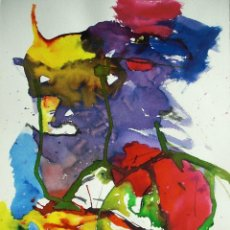 Arte: ANÓNIMO ACUARELA/CARTULINA 47 X 36 CM. COMPOSICIÓN ABSTRACTA.. Lote 156622966