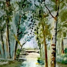 Arte: BELLA ACUARELA FIRMADA POR J. VILLANUEVA. Lote 156657830