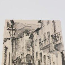 Arte: AGUATINTA PUEBLO DE MALLORCA DE CALIDAD. Lote 156914884