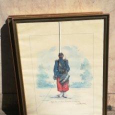 Arte: CUADRO INFANTERÍA DE LÍNEA,TAMBOR DE ÓRDENES 1893.UNIFORMES DE LA PATRIA REPÚBLICA ARGENTINA. Lote 156998889