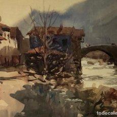 Arte: CEFERINO OLIVÉ - ACUARELA SOBRE PAPEL -. Lote 157219294